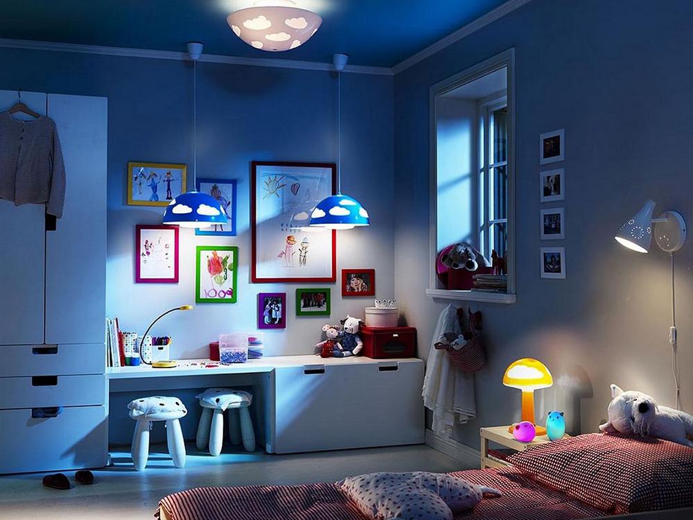 Oświetlenie w dziecięcej sypialni