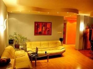 Pięknie oświetlony pokój dzienny