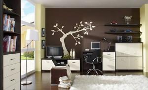 Kolor i przestrzeń w pokoju dziennym.