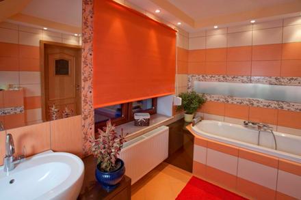 Kolorowe ściany w łazience