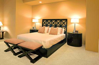 Oświetlona sypialnia