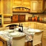 Ekspozycje i schowki w kuchni.