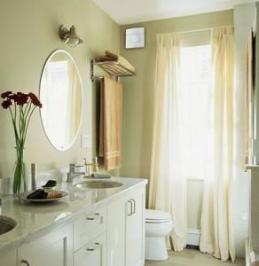 Wentylator dla zdrowia w łazience.